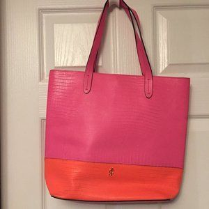 💗👜🧡 JUICY COUTURE Genuine Leather Tote~GUC~🧡💗